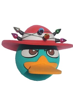 Disney Antenna Topper - Perry the Platypus - Christmas Lights