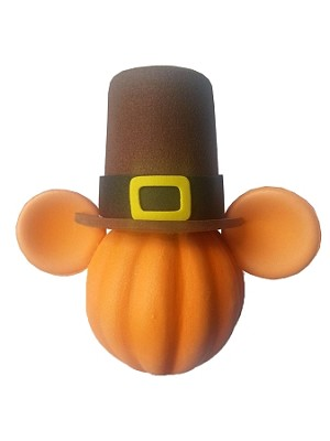 Disney Antenna Topper - Thanksgiving - Mickey Mouse Pumpkin Pilgrim