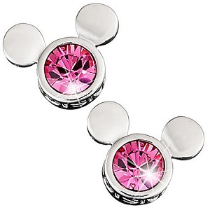 Disney Arribas Earrings - Pink Mickey Mouse Icon - Swarovski Crystal