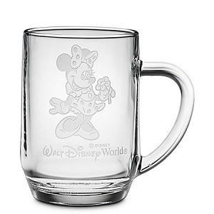 Disney Arribas Glass Mug - Minnie Mouse - Personalizable - Large