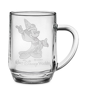 Disney Arribas Glass Mug - Sorcerer Mickey - Personalizable - Large