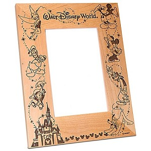 Disney Wood Photo Frame - Characters & Castle - Arribas - 4'' x 6''