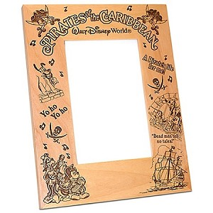 Disney Wood Photo Frame - Pirates Mickey Mouse - Arribas - 4'' x 6''