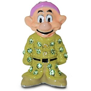 Disney Arribas Figurine - Dopey Dwarf - Jeweled Mini