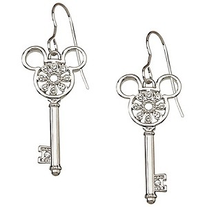Disney Arribas Earrings - Crystal Key Mickey Mouse -- Flower