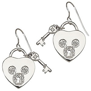 Disney Arribas Earrings - Heartlock and Key - Crystal