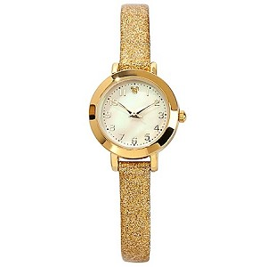 Disney Wrist Watch -  Mickey Mouse Sparkling Gold Icon for Women