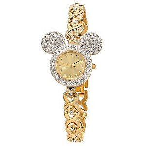 Disney Wrist Watch - Mickey Mouse Pavé Crystal Bezel for Women
