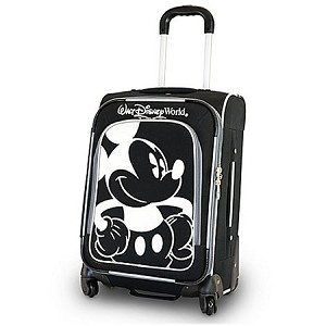 Disney Rolling Luggage - Mickey Mouse Design - Black and White - 20