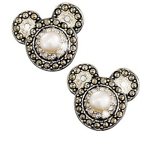 Disney Earrings - Mickey Mouse Icon With Pearl - Judith Jack