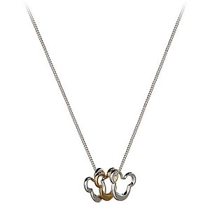 Disney Necklace - Triple Mickey Mouse Icons