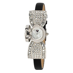 Disney Wrist Watch - Minnie Mouse Bow - Silver