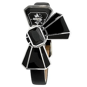 Disney Wrist Watch - Minnie Mouse Bow - Black