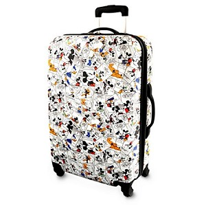 Disney Rolling Luggage - Comic Strip - Mickey Mouse - White 26''