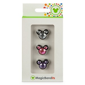 Disney Magic Band - Magic Bandits - Jewel Mickey - Clear,Pink,Lavender
