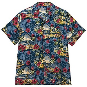 Disney Shirt for MEN - Hawaiian Surf and Sand - Mickey Mouse - Blue