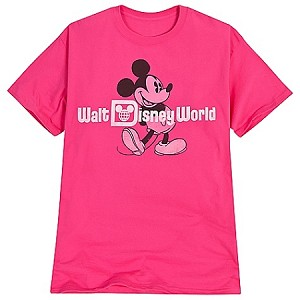 Disney Shirt for WOMEN - Faded Walt Disney World Mickey Mouse -- Pink