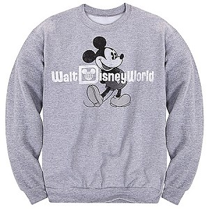 Disney Sweatshirt for ADULTS - Classic Long Sleeve Mickey Mouse Fleece