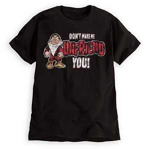 Disney Shirt for MEN - Grumpy Tee - Don't Make Me Unfriend You