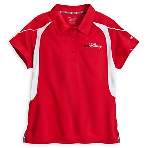 Disney Shirt for Women - RunDisney Performance Polo Shirt - Red