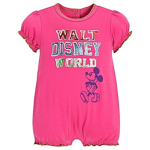 Disney Romper for BABY Girls - Chromatic Mickey Mouse -- Pink