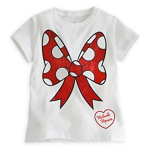 Disney Shirt for Girls - Minnie Mouse Bow Tee