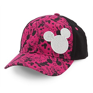 Disney Baseball Cap - Signature Mickey Mouse for Girls - Pink & Black