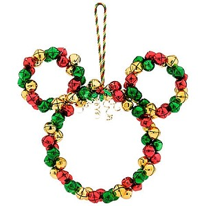 Disney Christmas Doorhanger - Mickey Mouse Wreath Bells