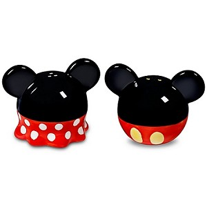 Disney Salt and Pepper Shakers - Best of Mickey - Minnie and Mickey