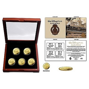 Disney Collectors Coin Set - Walt Disney World Railroad - Limited Edition
