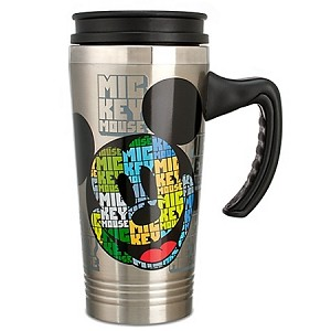 Disney Travel Mug - Stainless Steel Colorful Mickey Mouse