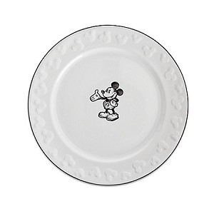 Disney Dessert Plate - Gourmet Mickey Mouse Icon - Black and White