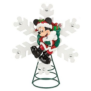 Disney Christmas Tree Topper - Santa Mickey Mouse