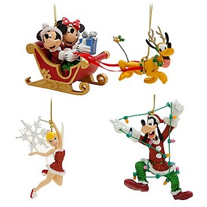Disney Christmas Ornament Set - Mickey and Minnie Mouse and Friends