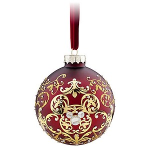 Disney Christmas Ornament - Mickey Mouse Icon Ball - Victorian Filigree