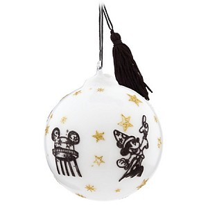 Disney Christmas Ornament - Sorcerer Mickey Mouse Park Icons - White