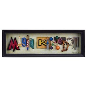 Disney Icon Letters Shadowbox - Magic Kingdom by Dave Avanzino