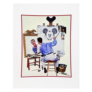 Disney Art Print - Walt Disney Triple Self Portrait - by Charles Boyer