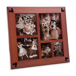 Disney Photo Frame - Mickey Mouse Icon Wood - Multi-Window