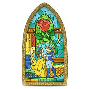Disney Window Replica - Beauty and the Beast Stained Glass