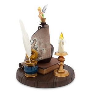 Disney Medium Figure Statue - Tinker Bell with Candle and Map