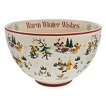 Disney Serving Bowl - Happy Holidays - Santa Mickey Mouse & Friends