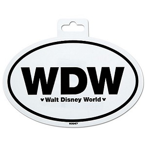 Disney Window Cling - Walt Disney World Car Sticker