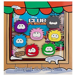 Disney Booster Pin Set - Club Penguin - Puffles