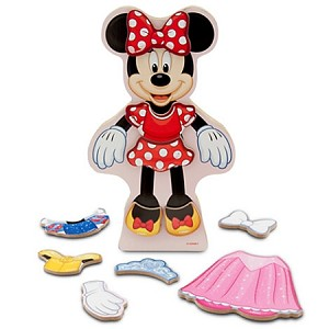 Disney Play Set - Minnie Mouse Magnetic Dress-Up Set - Wood
