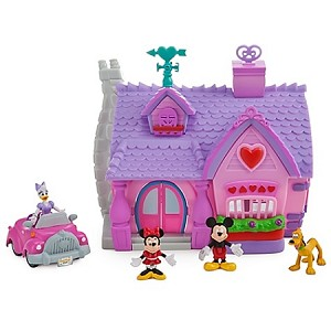Disney Figurine Set - Mickey Mouse Toontown Minnie Mouse Micro Playset