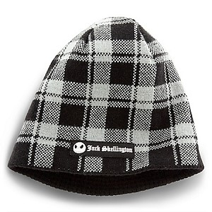 Disney Hat - Beanie - Reversible Jack Skellington - Plaid