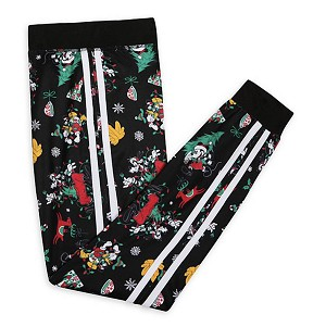 Disney Holiday Jogger Pants for Girls - Mickey and Friends - Black