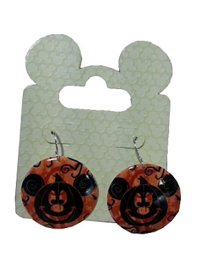 Disney Dangle Earrings - Halloween Mickey Mouse Pumpkin