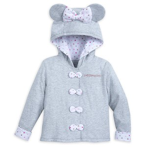 Disney Hooded Jacket for Toddler - Minnie Mouse Polka Dot - Gray